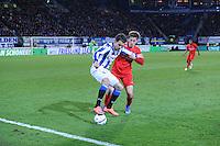 VOETBAL: HEERENVEEN: 06-02-16, Abe Lenstra Stadion, SC Heerenveen - FC Twente, uitslag 1-3, Mitchell Te Vrede, Joachim Andersen, ©foto Martin de Jong