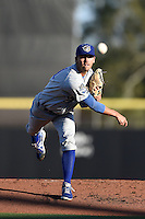 Daytona Cubs pitcher Tayler Scott (21) delivers a pitch during a game against the Dunedin Blue Jays on April 16, 2014 at Florida Auto Exchange Stadium in Dunedin, Florida.  Dunedin defeated Daytona 5-1.  (Mike Janes/Four Seam Images)