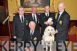 SUPPORT: Members of the Thomas Ashe Branch of the Organisation of National Ex-Servicemen pictured at the launch of the Irish Guide Dogs for the Blind Flag Day in Tralee..Front L/r. Tom Quirke (PRO of ONE Branch), Yale, a guide dog owned by Liam Lynch from Knocknagoshel..Back L/r. Gerald Landers (Vice President ONE Branch), Maurice Roche (chairman of ONE Branch), Michael Scannell (ONE Branch) and Liam Lynch.   Copyright Kerry's Eye 2008