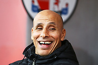 Oldham Athletic manager Dino Maamria during Crawley Town vs Oldham Athletic, Sky Bet EFL League 2 Football at Broadfield Stadium on 7th March 2020