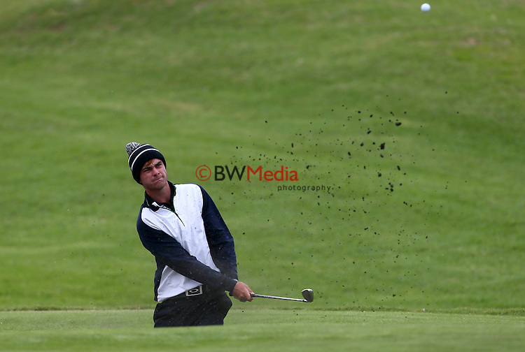 Nick Coxon during the Autex Muriwai Open, Round One, Charles Tour, Muriwai Golf Course, Auckland, New Zealand. Thursday 30 April 2015. Photo: Simon Watts/www.bwmedia.co.nz <br /> All images &copy; NZ Golf and BWMedia.co.nz New Zealand Golf Images:<br /> Any use of New Zealand Golf images must have prior written approval of New Zealand Golf.