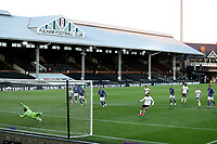 10th July 2020; Craven Cottage, London, England; English Championship Football, Fulham versus Cardiff City; Aleksandar Mitrovic of Fulham scores from the penalty spot for 1-0 in the 35th minute