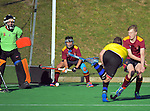 Action from the 2016 Rankin Cup boys hockey match between King's College and Christchurch BHS at National Hockey Stadium, Wellington, New Zealand on Wednesday, 31 August 2016. Photo: Dave Lintott / lintottphoto.co.nz
