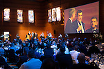 St Johnstone FC Scottish Cup Celebration Dinner at Perth Concert Hall...01.02.15<br /> Managert Tommy Wright and Chairman Steven Brown are interviewed by Gordon Bannerman<br /> Picture by Graeme Hart.<br /> Copyright Perthshire Picture Agency<br /> Tel: 01738 623350  Mobile: 07990 594431