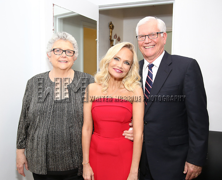 Kristin Chenoweth with her parents  Junie Chenoweth and Jerry Chenoweth backstage during the Opening Night of Kristin Chenoweth - 'My Love Letter To Broadway'  at the Lunt-Fontanne Theatre on November 2, 2016 in New York City.