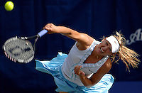 Maria Sharapova serves during her match in the Bausch & Lomb Championships at Amelia Island Plantation, Fl. (The Florida Times-Union, Rick Wilson)
