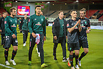 Jubel in Bremen, Philipp Bargfrede (SV Werder Bremen #44), Niclas Fuellkrug (SV Werder Bremen, #11),,<br /> <br /> GER, FC Heidenheim vs. Werder Bremen, Fussball, Bundesliga Religation, 2019/2020, 06.07.2020,<br /> <br /> DFB/DFL regulations prohibit any use of photographs as image sequences and/or quasi-video., <br /> <br /> <br /> Foto: EIBNER/Sascha Walther/Pool/gumzmedia/nordphoto