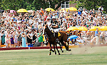 Polo player at the 3rd Annual Veuve Clicquot Polo Classic on Governors Island on June 27, 2010.