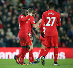 Liverpool's Sadio Mane celebrates scoring his sides third goal during the Premier League match at Anfield Stadium, Liverpool. Picture date December 27th, 2016 Pic David Klein/Sportimage