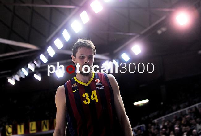 BARCELONA, SPAIN, BALONCESTO   29/11/2013<br /> Partido de Euroleague entre el Barcelona y el Fenerbahce  <br /> <br /> En imagen Bostjan Nachbar  . FOTOS PEP DALMAU