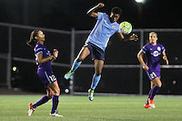 Piscataway, NJ - Wednesday Sept. 07, 2016: Kristen Edmonds, Maya Hayes during a regular season National Women's Soccer League (NWSL) match between Sky Blue FC and the Orlando Pride FC at Yurcak Field.