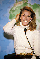 Montreal (Qc) CANADA - File Photo - 1997-<br /> <br /> Celine Dion Press Conference before her 1997 concert at the Montreal Molson Centre.<br /> <br /> -Photo (c)  Images Distribution