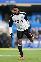 Rolando Aarons of Newcastle United warms up ahead of the Premier League match between Chelsea and Newcastle United at Stamford Bridge, London, England on 2 December 2017. Photo by David Horn.