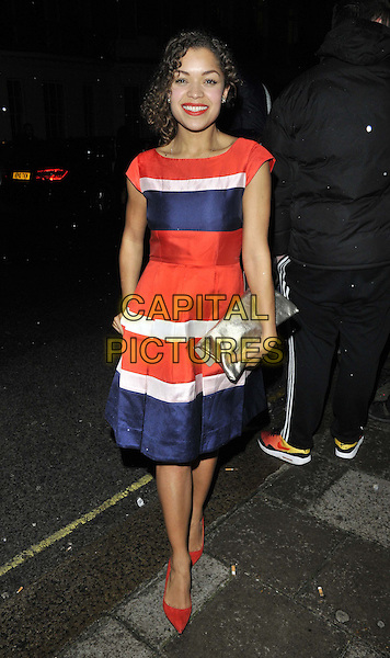LONDON, ENGLAND - FEBRUARY 04: Antonia Thomas attends the InStyle Best of British Talent party to celebrate the EE BAFTA Film Awards later this month, Dartmouth House, Charles St., on Tuesday February 04, 2014 in London, England, UK.<br /> CAP/CAN<br /> &copy;Can Nguyen/Capital Pictures