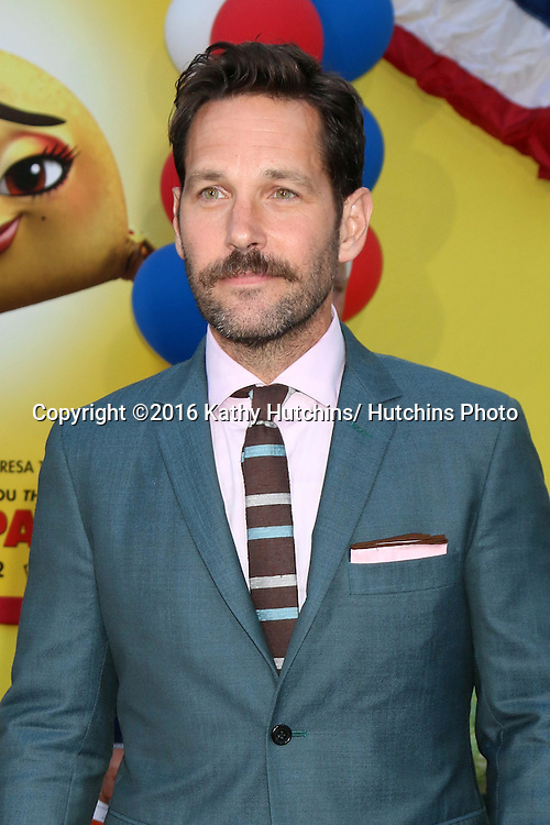 "LOS ANGELES - AUG 9:  Paul Rudd at the ""Sausage Party"" Premiere at the Village Theater on August 9, 2016 in Westwood, CA"
