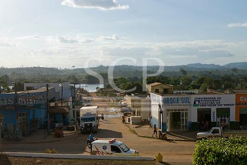 Pará State, Brazil. São Félix do Xingu with the Fresco River behind.