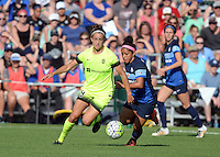 Kansas City, MO - Saturday June 25, 2016:  Havana Solaun, Desiree Scott during a regular season National Women's Soccer League (NWSL) match at Swope Soccer Village.
