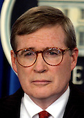 "Stephen J. ""Steve"" Hadley, Assistant to the President for National Security Affairs (commonly referred to as the National Security Advisor) conducts a press briefing on the upcoming G-8 Summit at the White House in Washington, D.C. on June 30, 2005.<br /> Credit: Ron Sachs / CNP"
