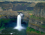 Palouse Falls State Park, WA   <br /> Palouse Falls on the Palouse River encircled by basalt cliffs