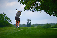 Cristie Kerr (USA) watches her second shot on 1 during Saturday's third round of the 72nd U.S. Women's Open Championship, at Trump National Golf Club, Bedminster, New Jersey. 7/15/2017.<br /> Picture: Golffile | Ken Murray<br /> <br /> <br /> All photo usage must carry mandatory copyright credit (&copy; Golffile | Ken Murray)