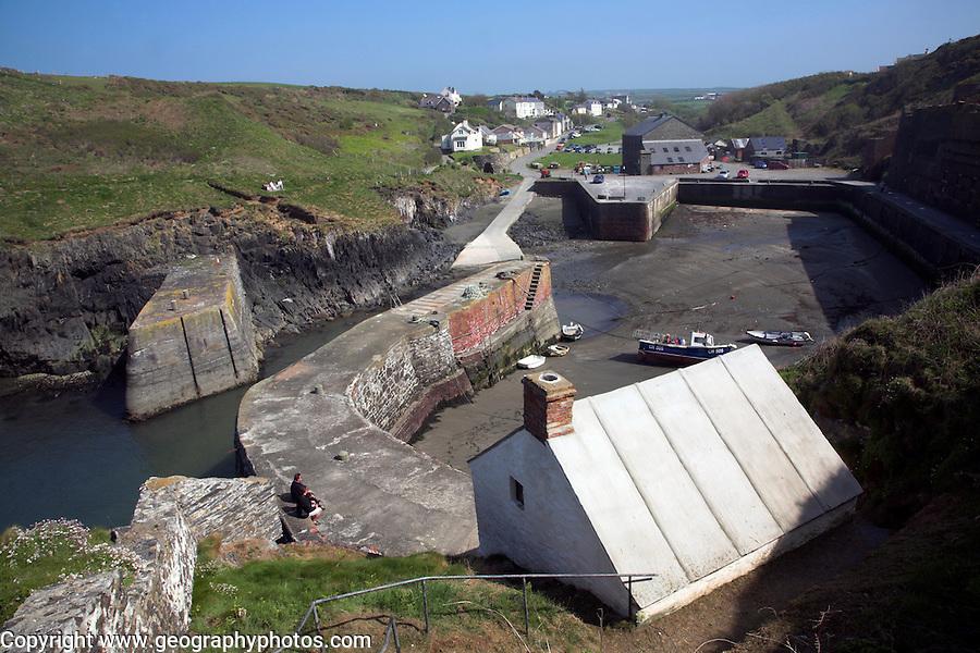 Porthgain harbour, Pembrokeshire coast national park, Wales, UK