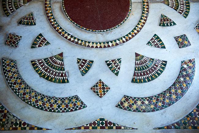 Medieval Byzantine style tiles of the Palatine Chapel, Cappella Palatina, Palermo, Italy