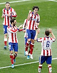 Atletico de Madrid's Jose Maria Gimenez, Jesus Gamez, Tiago Mendes and Koke Resurrecccion celebrate goal during La Liga match.March 21,2015. (ALTERPHOTOS/Acero)