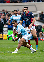 Sinoti Sinoti of Newcastle Falcons during the Greene King IPA Championship match between London Scottish Football Club and Newcastle Falcons at Richmond Athletic Ground, Richmond, United Kingdom on 12 October 2019. Photo by Liam McAvoy.