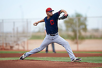 Cleveland Indians pitcher Casey Shane (53) during an instructional league game against the Los Angeles Dodgers on October 15, 2015 at the Goodyear Ballpark Complex in Goodyear, Arizona.  (Mike Janes/Four Seam Images)