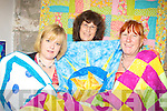 STITCH IN TIME: Nikki Foley, Jan Murray and Lorna Thyter with some of the quilts they are making in Keel.