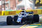 23rd March 2018, Melbourne Grand Prix Circuit, Melbourne, Australia; Melbourne Formula One Grand Prix, Friday free practice; The number 18 Williams Martini driven by Lance Stroll