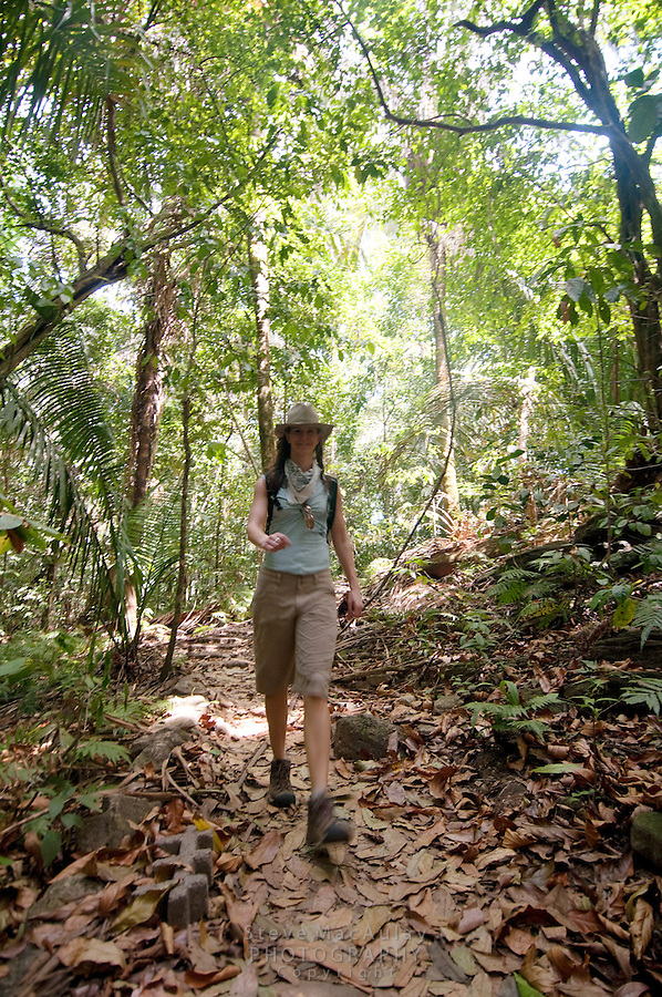 Hiking through the forest at Manuel Antonio National Park, Costa Rica