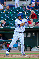 Iowa Cubs outfielder Bijan Rademacher (24) during game two of a Pacific Coast League doubleheader against the Colorado Springs Sky Sox on August 17, 2017 at Principal Park in Des Moines, Iowa. Iowa defeated Colorado Springs 6-0. (Brad Krause/Krause Sports Photography)