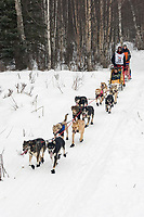 Bill Steyer w/Iditarider on Trail 2005 Iditarod Ceremonial Start near Campbell Airstrip Alaska SC