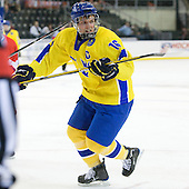 Anton Lander (Sweden - 16) - Sweden defeated the Czech Republic 4-2 at the Urban Plains Center in Fargo, North Dakota, on Saturday, April 18, 2009, in their final match of the 2009 World Under 18 Championship.