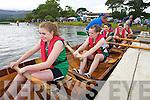 Saint Brendans Minor Girls Crew getting ready for their race Killarney Regatta at O'Mahonys point, Killarney on Sunday.