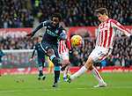 Wilfried Bony of Manchester City has a shot at goal - Football - Barclays Premier League - Stoke City vs Manchester City - Britannia Stadium Stoke - December 5th 2015 - Season 2015/2016 - Photo Malcolm Couzens/Sportimage
