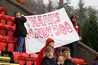 24th November 2019; McDairmid Park, Perth, Perth and Kinross, Scotland; Scottish Premiership Football, St Johnstone versus Aberdeen; Banners in honour of Andrew Considine of Aberdeen who was making his 500th appearance for the club - Editorial Use
