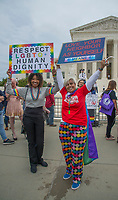 Washington DC, October 8,2019 USA-The US Supreme Court heard arguments for and against Lesbian,Gay,Bi-Sexual and Transgender (LGBT) discrimination in Washington DC. Protestors on both sides gathered at the steps of the Supreme Court, after the area was shut down due to an earlier bomb scare and later reopened. <br /> CAP/MPI/PYL<br /> ©PYL/MPI/Capital Pictures