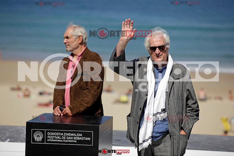 "French director Bertrand Tavernier (R) and producer Frederic Bourboulon in the photocall of the ""Quai D´orsay"" film presentation during the 61 San Sebastian Film Festival, in San Sebastian, Spain. September 24, 2013. (ALTERPHOTOS/Victor Blanco) /NortePhoto"
