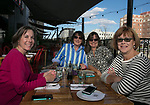 """Laurie Leonard, Debe Fennell, Kim Nazeres and marlene Olsen during the """"Reno Taste"""" launch party  Tuesday, June 13, 2017 on the terrace of Campo Reno."""