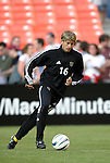 8 May 2004: Ross Paule warms up before the game. DC United tied the Columbus Crew 1-1 at RFK Stadium in Washington, DC during a regular season Major League Soccer game..