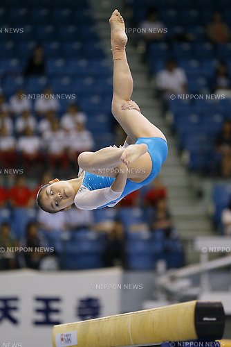 Yu Minobe, JULY 5, 2014 - Artistic Gymnastics : The 68th All Japan Artistic Gymnastics Apparatus Championship, Women's Balance Beam at Chiba Port Arena, Chiba, Japan. (Photo by Yusuke Nakanishi/AFLO SPORT) [1090]
