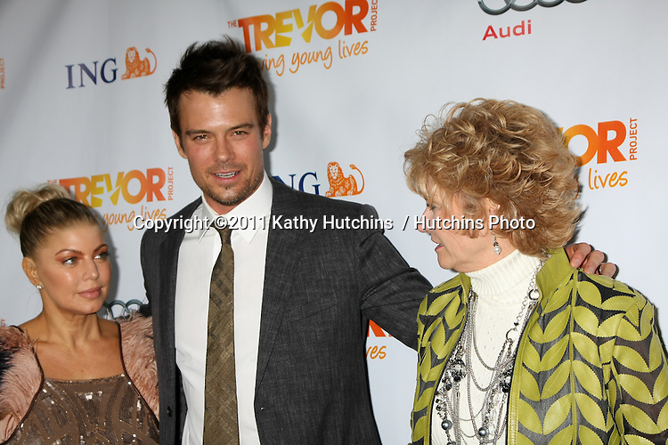 "LOS ANGELES - DEC 4:  Fergie; Josh Duhamel; Bonny Duhamel arrives at ""The Trevor Project's 2011 Trevor Live!"" at Hollywood Palladium on December 4, 2011 in Los Angeles, CA"