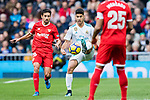 Marco Asensio Willemsen (c) of Real Madrid fights for the ball with Jesus Navas Gonzalez of Sevilla FC during the La Liga 2017-18 match between Real Madrid and Sevilla FC at Santiago Bernabeu Stadium on 09 December 2017 in Madrid, Spain. Photo by Diego Souto / Power Sport Images
