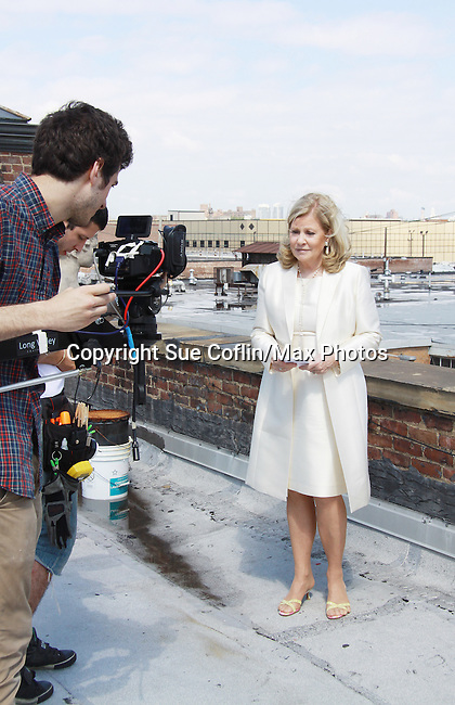 Gianluca Randazzo (Director of Photography) and Guiding Light Tina Sloan on set of Empire The Series films on June 3, 2012  in Brooklyn, New York. (Photo by Sue Coflin/Max Photos)
