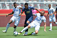 Santa Clara, CA - Sunday July 22, 2018: Harold Cummings, Guram Kashia during a friendly match between the San Jose Earthquakes and Manchester United FC at Levi's Stadium.