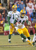 Green Bay Packers running back James Starks (44) carries the ball in the fourth quarter against the Washington Redskins in an NFC Wild Card game at FedEx Field in Landover, Maryland on Sunday, January 10, 2016.  The Packers won the game 35 - 18.<br /> Credit: Ron Sachs / CNP