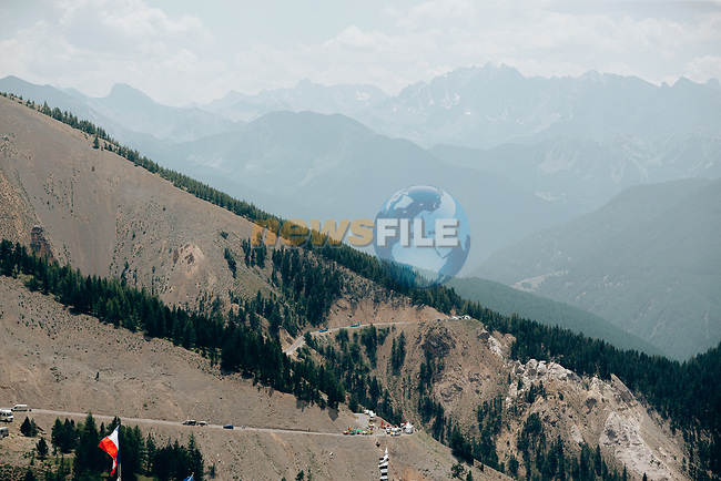 The publicity caravan passes before the race during Stage 18 of the 2019 Tour de France running 208km from Embrun to Valloire, France. 25th July 2019.<br /> Picture: ASO/Thomas Maheux | Cyclefile<br /> All photos usage must carry mandatory copyright credit (© Cyclefile | ASO/Thomas Maheux)