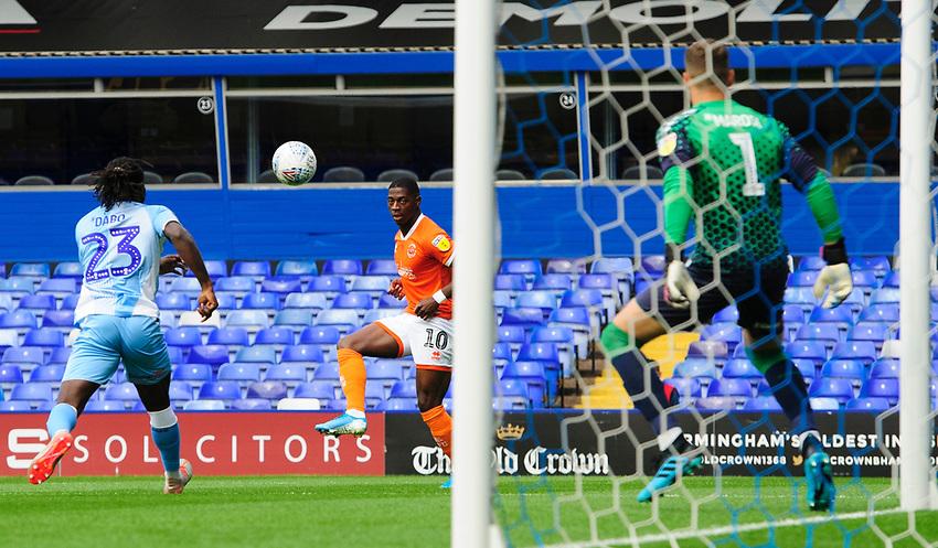 Blackpool's Sullay Kaikai scores the opening goal<br /> <br /> Photographer Chris Vaughan/CameraSport<br /> <br /> The EFL Sky Bet League One - Coventry City v Blackpool - Saturday 7th September 2019 - St Andrew's - Birmingham<br /> <br /> World Copyright © 2019 CameraSport. All rights reserved. 43 Linden Ave. Countesthorpe. Leicester. England. LE8 5PG - Tel: +44 (0) 116 277 4147 - admin@camerasport.com - www.camerasport.com